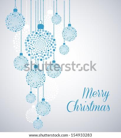 Christmas background with Christmas balls - stock vector