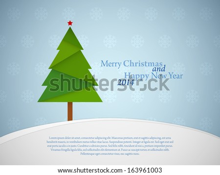 Christmas background with place for text - stock vector