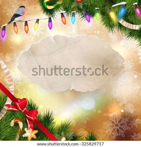 Christmas background with shining lights. EPS 10 vector file included - stock vector