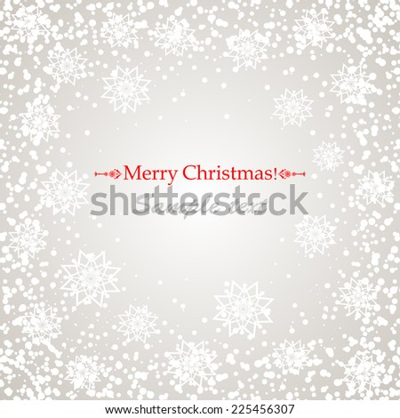 Christmas background with snow. Vector Illustration - stock vector