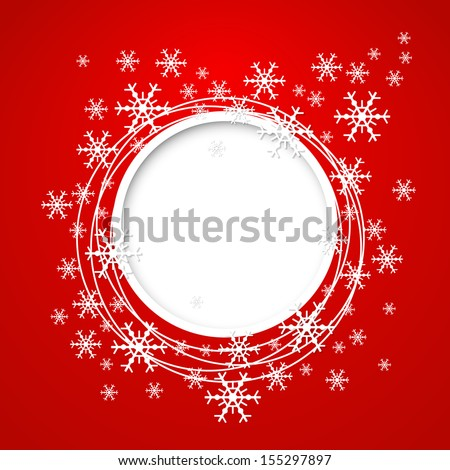 Christmas background with snowflakes. - stock vector