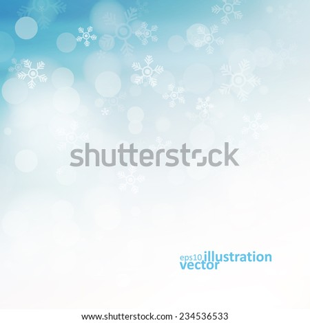 Christmas background with snowflakes, abstract vector illustration eps10 - stock vector