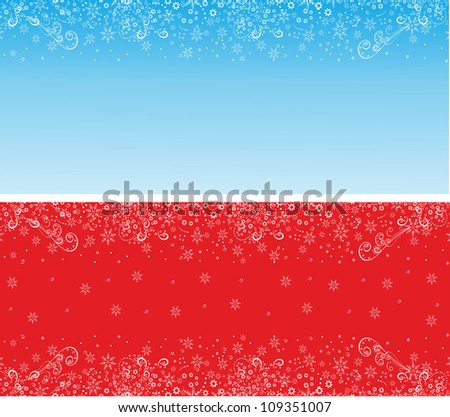 Christmas background with snowflakes.Editable and scalable vector - stock vector