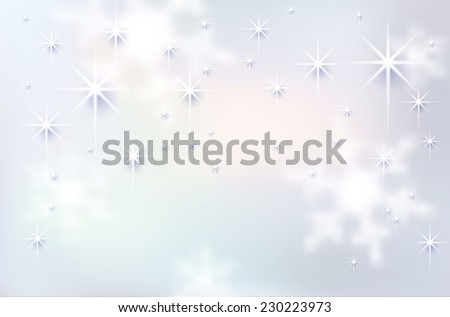 Christmas background with snowflakes - vector illustration - stock vector