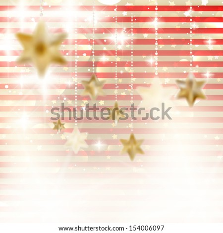 Christmas background with stars. EPS 10 - stock vector