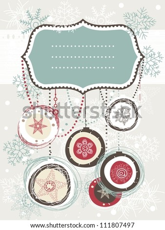 christmas backgrounds with empty banner for your text or image - stock vector