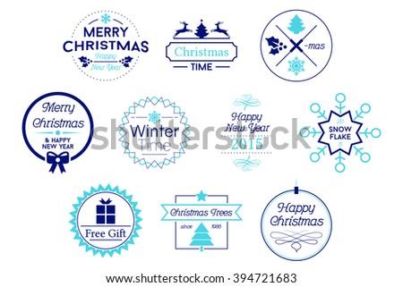 Christmas Badges Vector Logos - stock vector