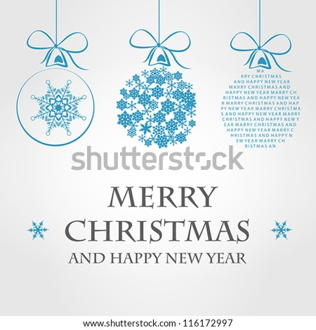 christmas ball. christmas ball concept - stock vector
