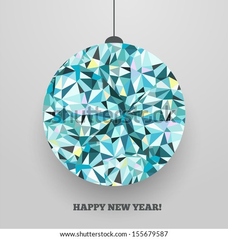 Christmas ball -- greeting card. Happy New Year! Vector postcard.  - stock vector