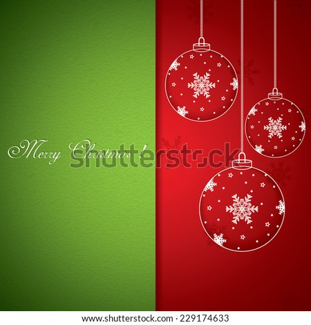 Christmas balls - cut the paper vector - stock vector