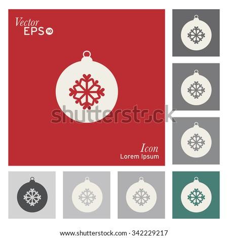 Christmas balls icon - vector, illustration - stock vector
