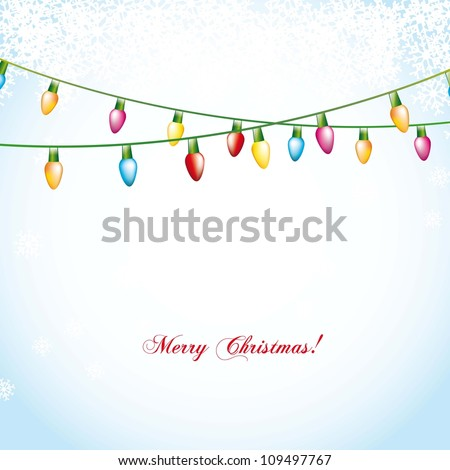 christmas balls over blue background with snowflakes. vector illustration - stock vector