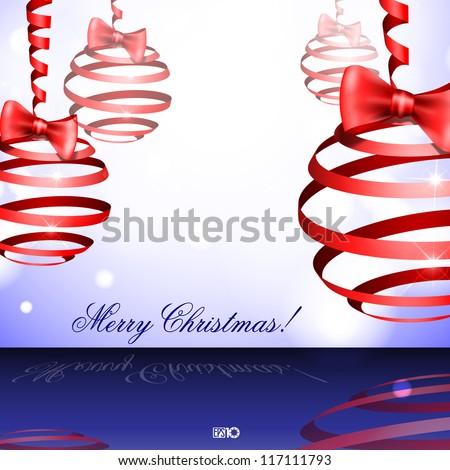 Christmas balls. Vector illustration. Eps 10. - stock vector