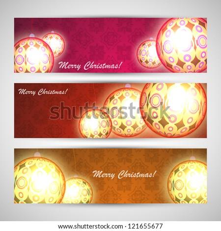 Christmas banner set vector eps 10 - stock vector