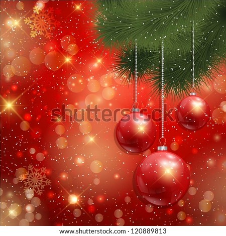 Christmas bauble background - stock vector