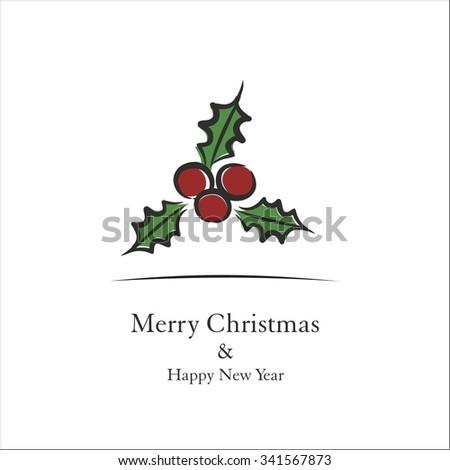 Christmas berry - stock vector