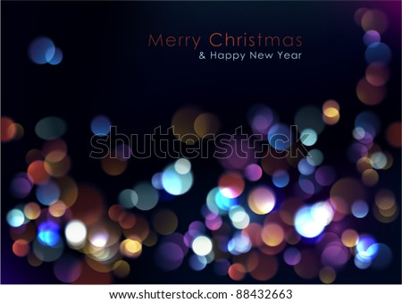 Christmas blurred lights background. Vector Illustration. - stock vector