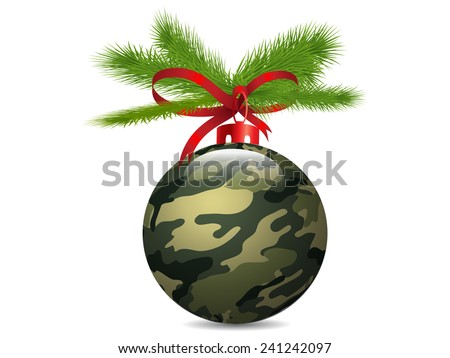 Christmas Camouflage ball.Vector - stock vector