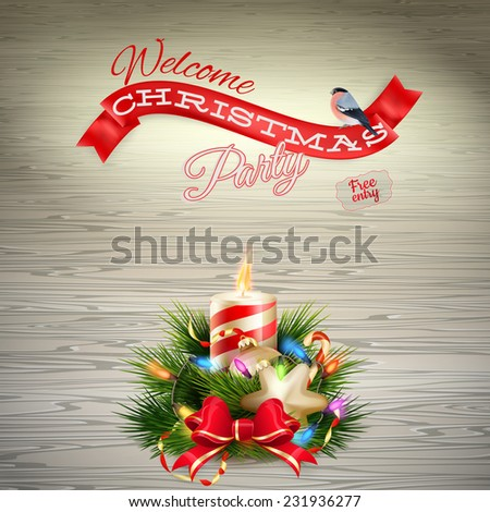 Christmas candle illustration. EPS 10 vector file included - stock vector