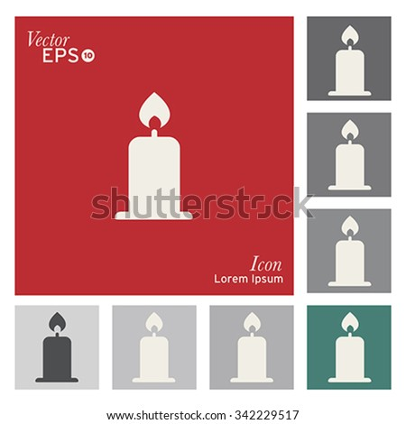 Christmas candles icon - vector, illustration. - stock vector