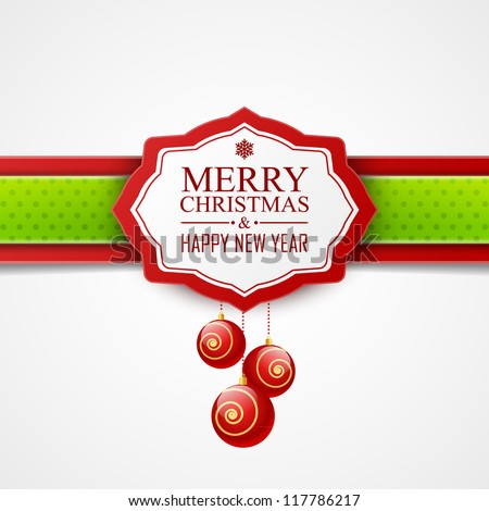 Christmas card - stock vector
