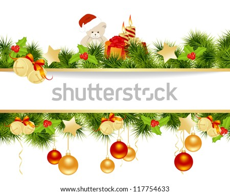Christmas card background. Vector illustration. - stock vector