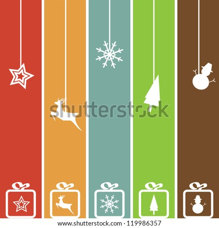 Christmas Card background, Vector illustration - stock vector