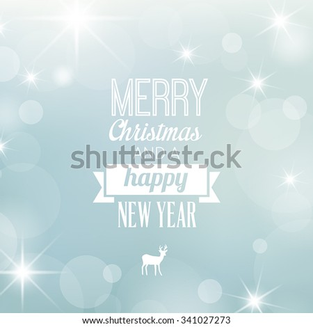 Christmas card - decoration, greetings card. Elegant snowy, frosty background. - stock vector