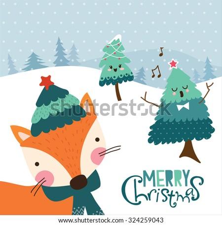 Christmas card design - stock vector