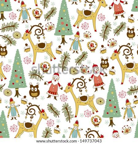 Christmas card.Vector illustration. - stock vector