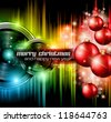 Christmas Club Party Background - Ideal for holiday discotheque event or party invitation poster. - stock vector