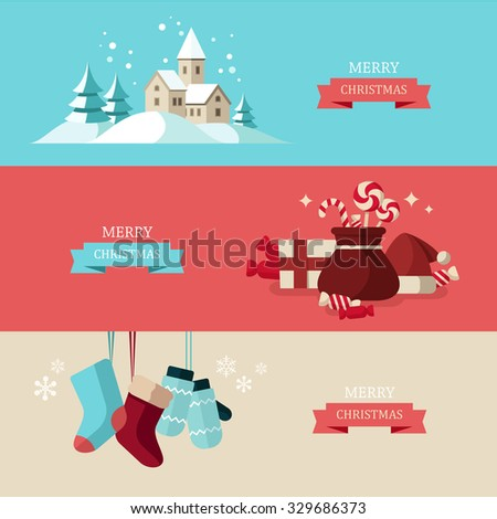 Christmas concept illustrations - stock vector