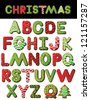Christmas Cookie Alphabet A through Z Vector EPS 8, isolated on white, no open shapes or paths. - stock vector