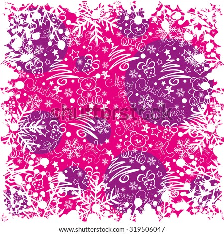 Christmas decoration Pattern wallpaper Holiday background  Christmas decor Christmas wallpaper Xmas decoration Christmas Card Pink - stock vector