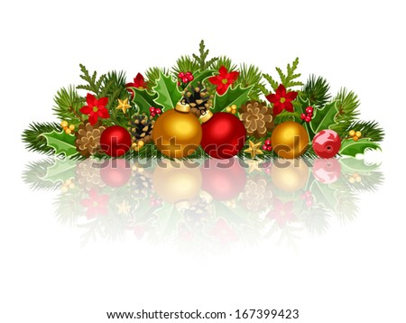Christmas decoration. Vector EPS-10. - stock vector