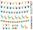 Christmas decoration vector set. Used pattern brushes included - stock vector