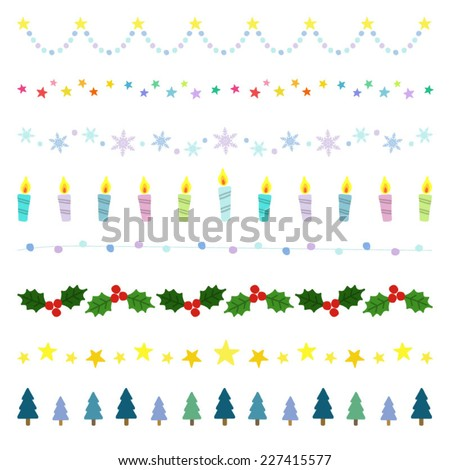 Christmas decorative borders / Vector EPS 10 illustration  - stock vector