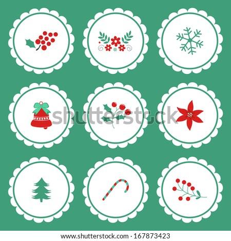 Christmas decorative graphic elements - stock vector