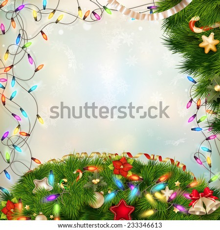 Christmas defocused light background. EPS 10 vector file included - stock vector