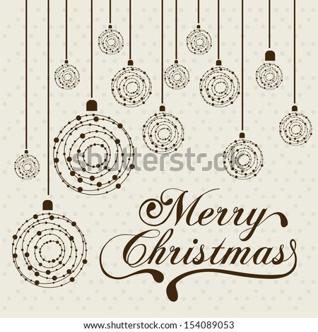 christmas design over dotted background vector illustration - stock vector