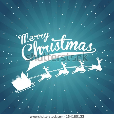 christmas design over starry  background vector illustration - stock vector
