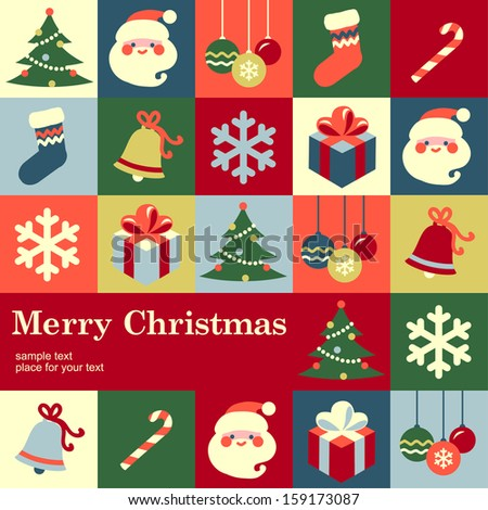 Christmas design template card. Vector background  - stock vector