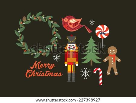 christmas element vector/illustration - stock vector