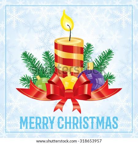 Christmas festive background, seasonal celebration concept - stock vector