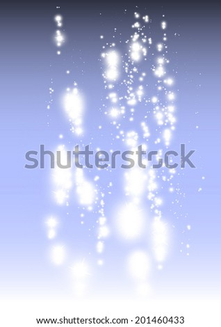 Christmas festive glitter fall decorative background template - Sparkles on Christmas blue vector background illustration - stock vector