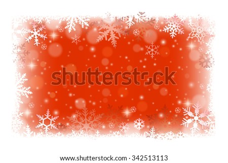 Christmas frame background with snowflakes  - stock vector