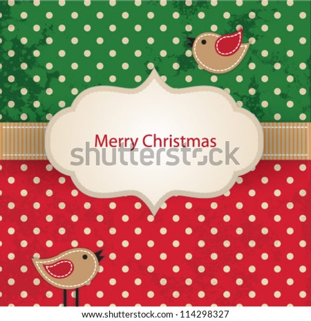 Christmas frame card - stock vector