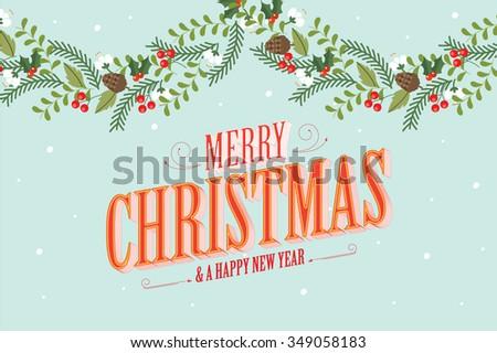 christmas garland vector/illustration - stock vector