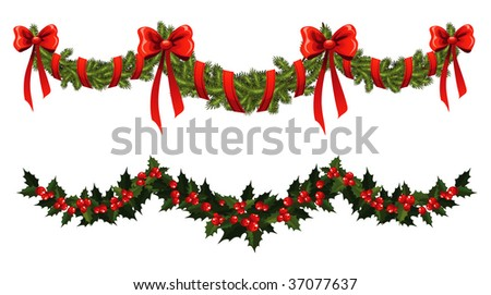 christmas garland stock photos images pictures. Black Bedroom Furniture Sets. Home Design Ideas