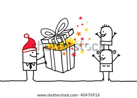 Christmas gift - stock vector